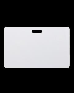 Weisse Karten 85.5 x 54.2 mm PVC Langloch horizontal