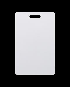 Weisse Karten 85.5 x 54.2 mm PVC Langloch vertikal