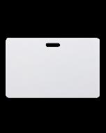 Weisse Karten CR80 PVC Langloch horizontal
