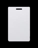 Weisse Karten CR80 PVC Langloch vertikal